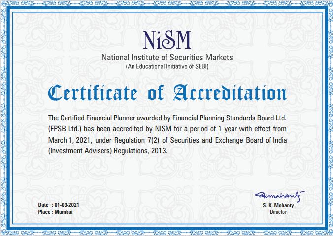 NISM Certificate